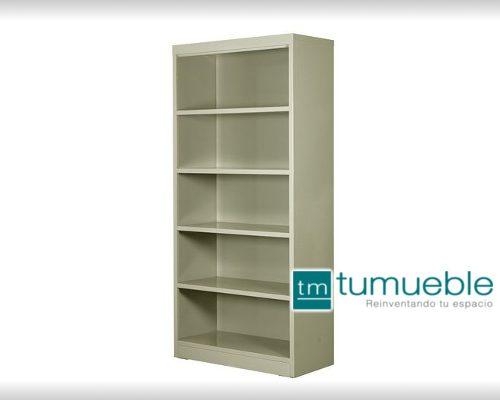 Librero Metálico de 1.80cm x .80cm 5 Huecos MT-LIBR-001
